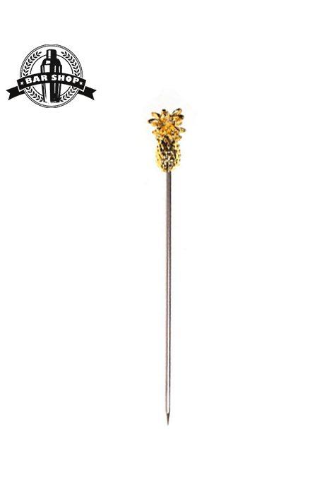 шпажка-ананас-золото